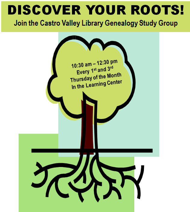 CANCELLED: Castro Valley Library Genealogy Study Group