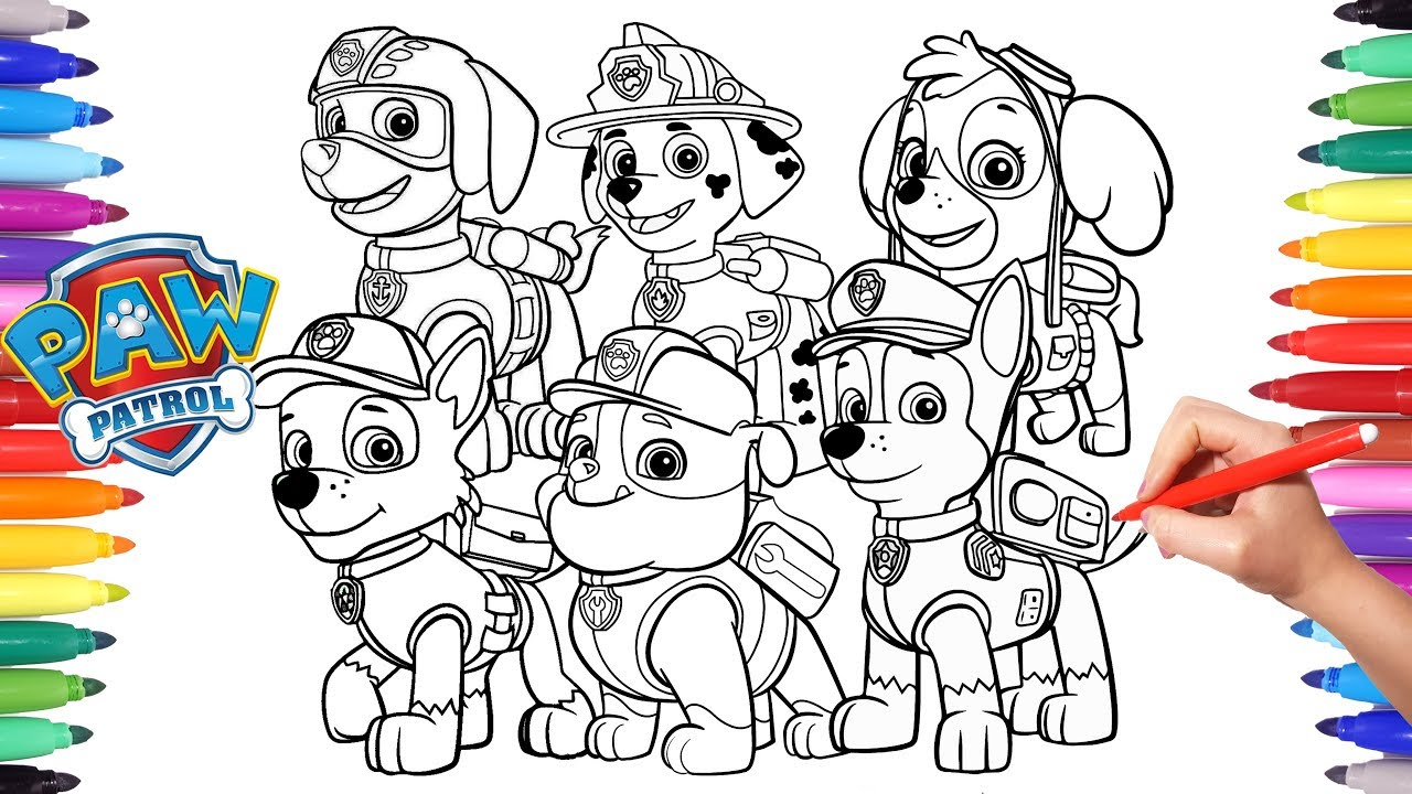 Let's Color with Paw Patrol!