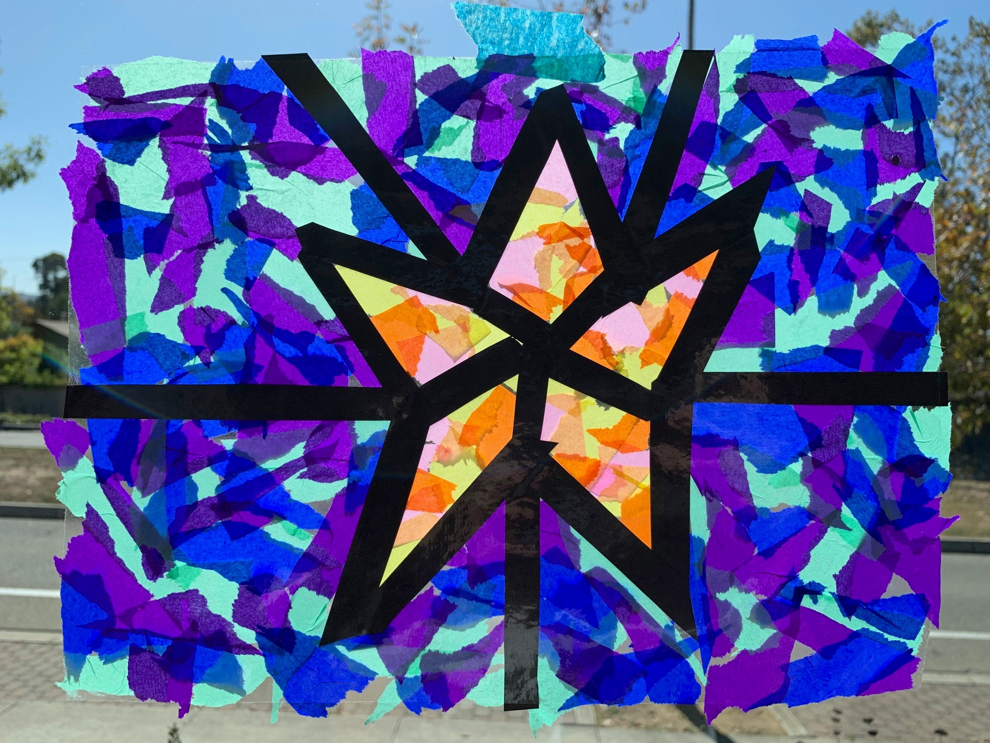 Family Art: Make a Paper Stained Glass Window