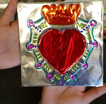 Repujado Hearts: Metal Embossed Crafting for Adults