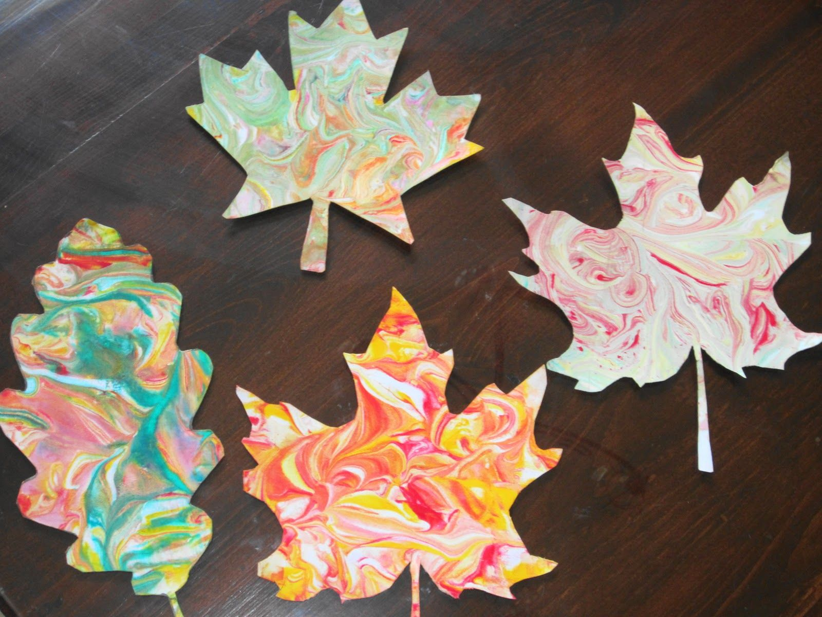 CANCELLED Fall Craft for Adults - Marbled Fall Leaves