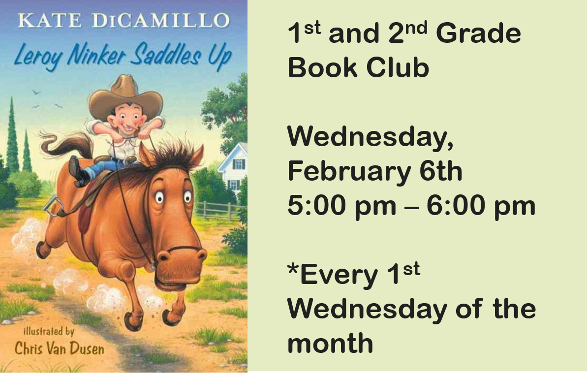 1st and 2nd Grade Book Club