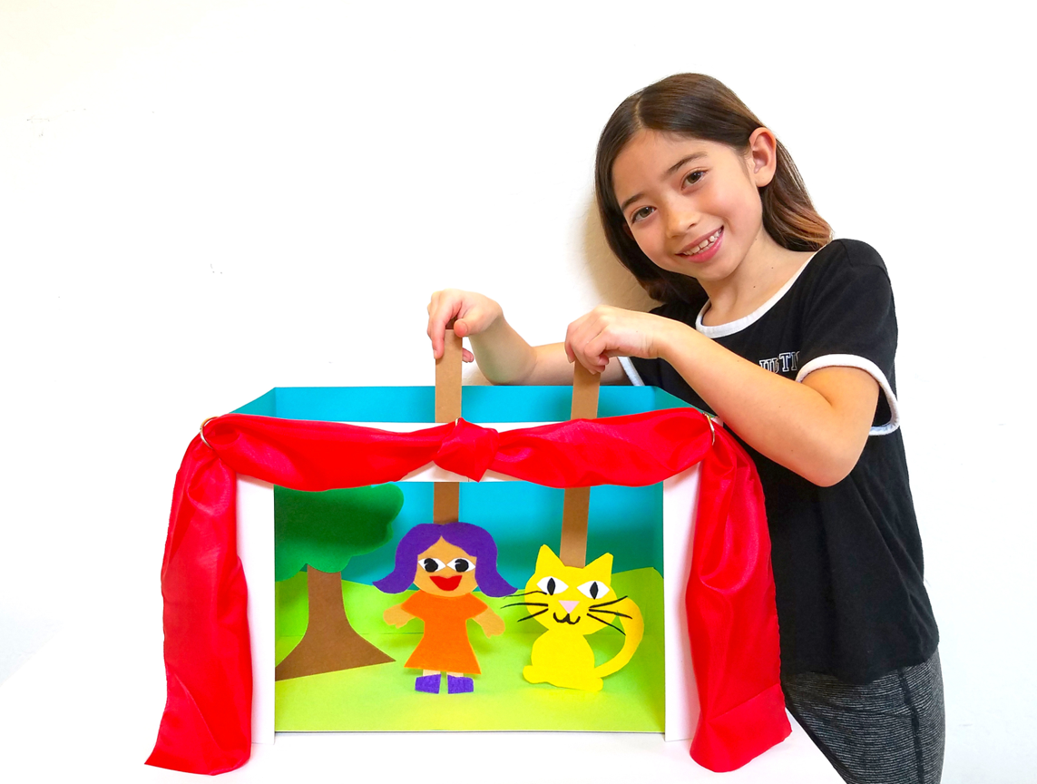 Make a Family Puppet Theatre Art IS Education Family Workshop