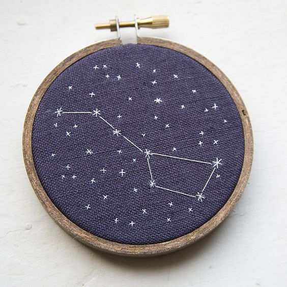 Constellation Embroidery  -- for ages 10-15