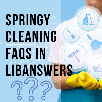 LibAnswers Springy Cleaning for FAQs