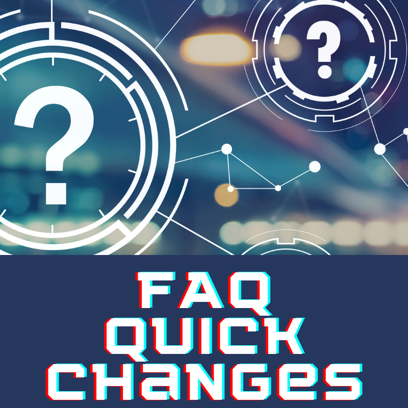 Adjusting FAQS for Policy Changes and Patron Needs