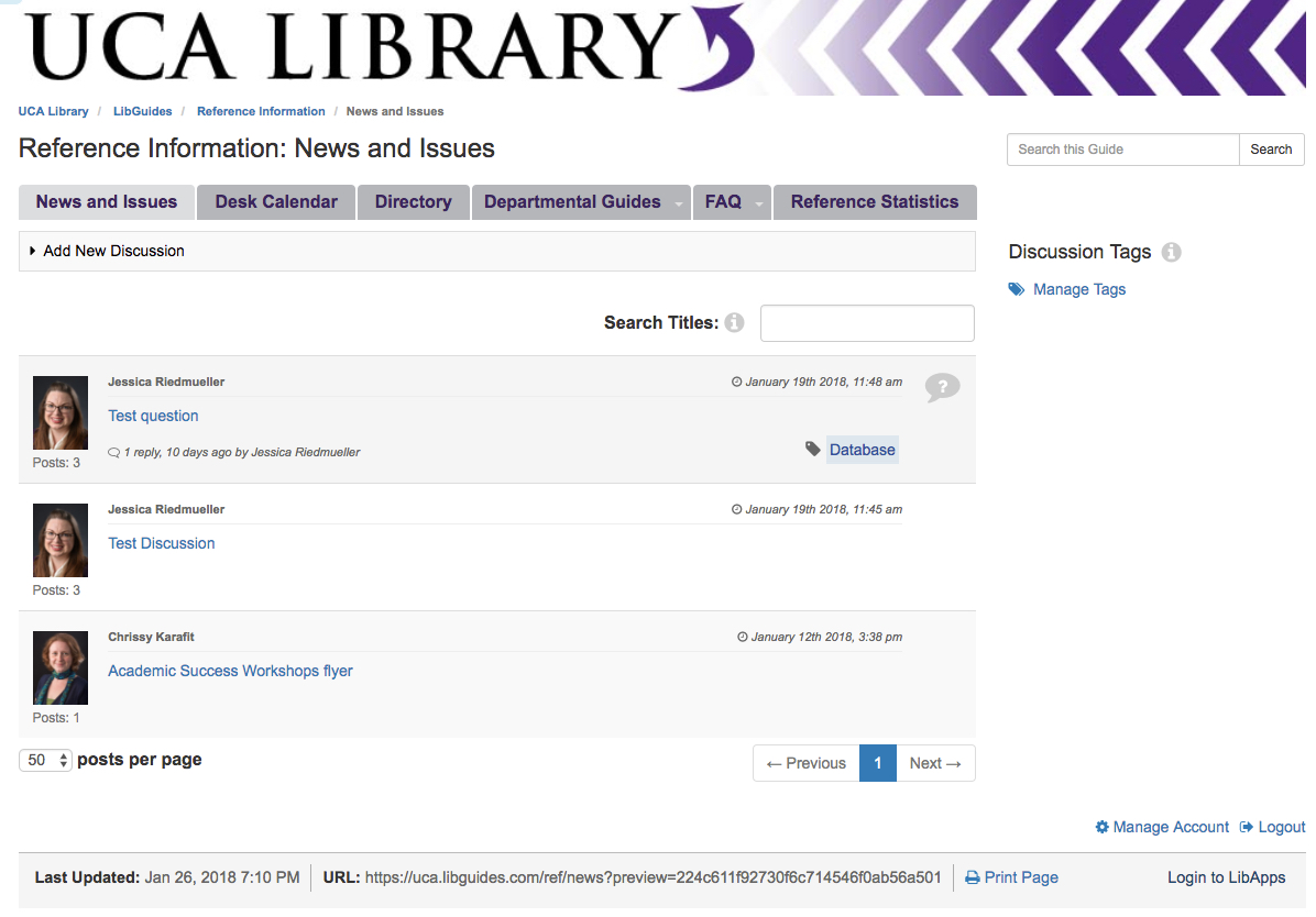 Univ. of Central Arkansas: Using LibGuides CMS as a Staff Knowledgebase