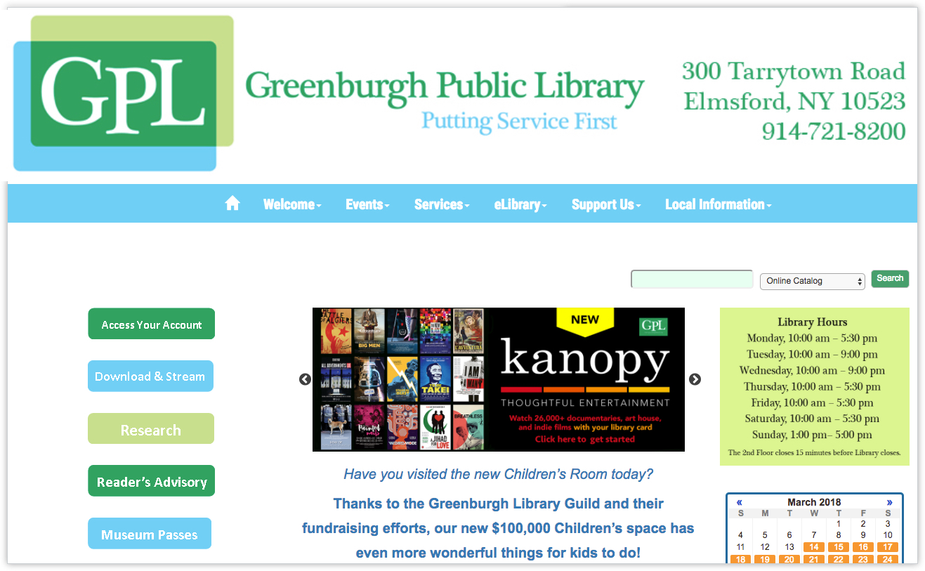 Greenburgh Public Library: Learn From Us!