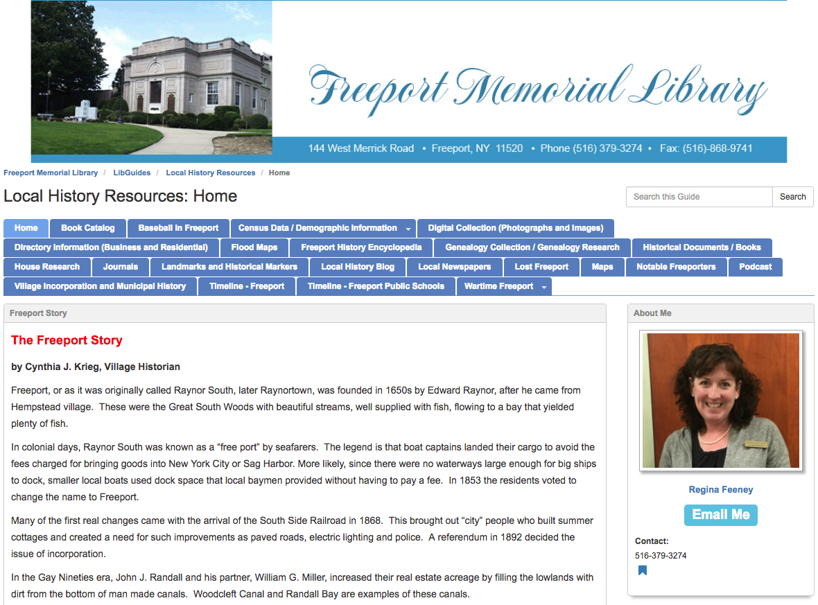 Freeport Memorial Library: Importance of LibGuides in Public Libraries
