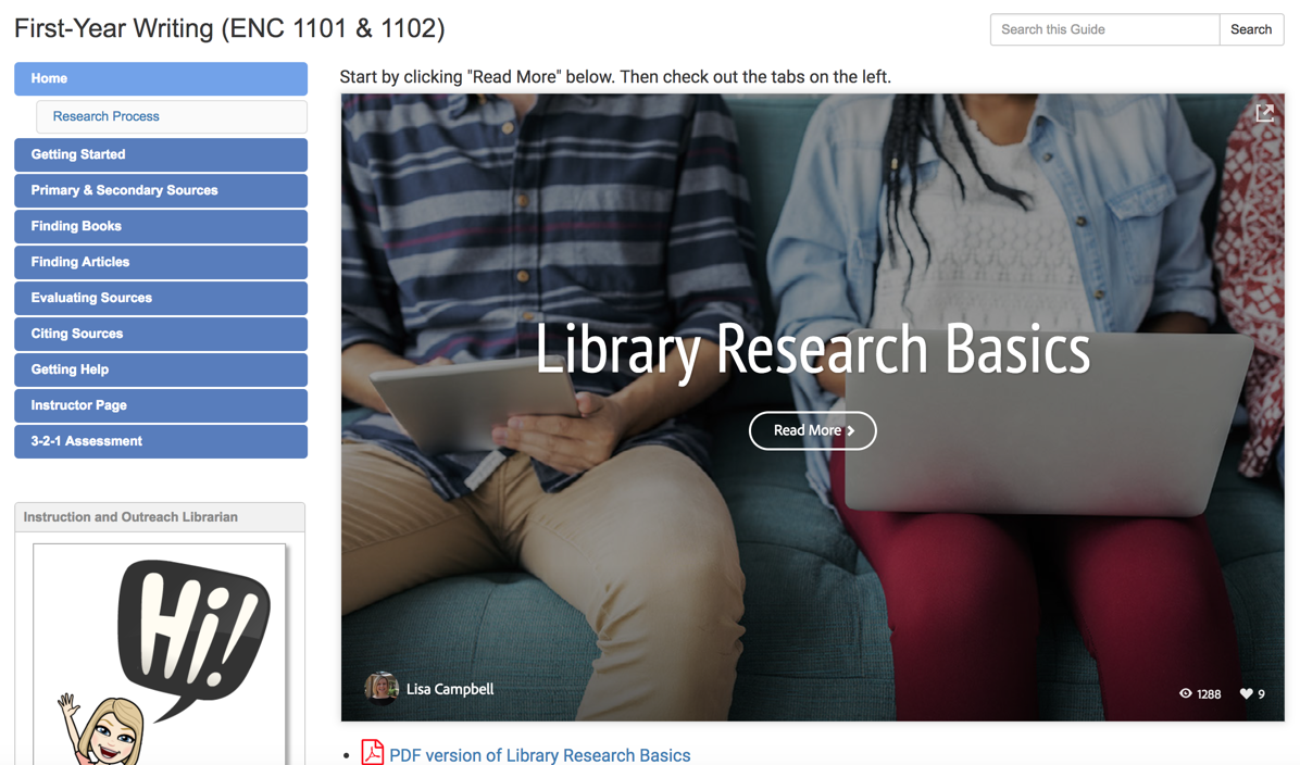 Univ. of Florida: LibGuides Remix