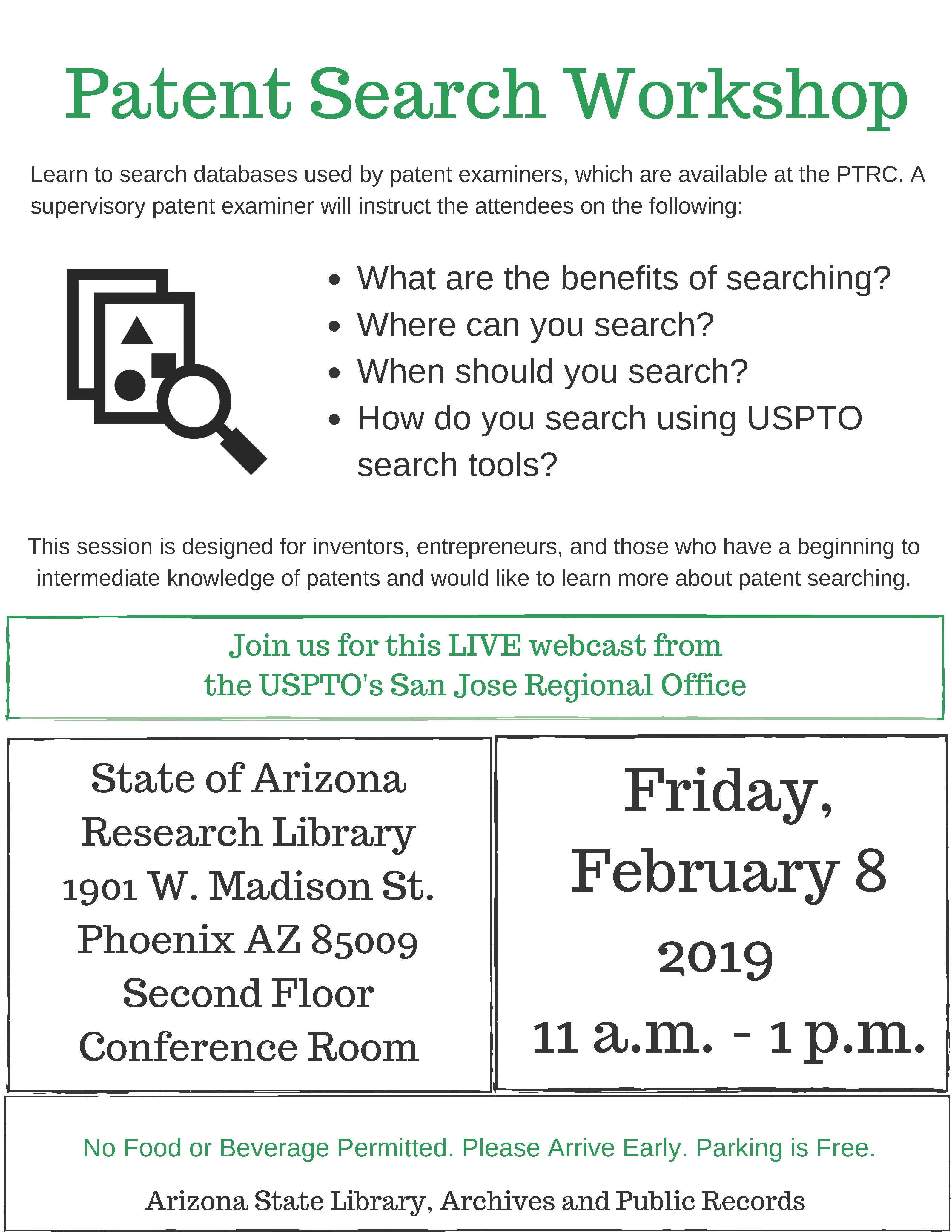 Hands-on Patent Search Workshop