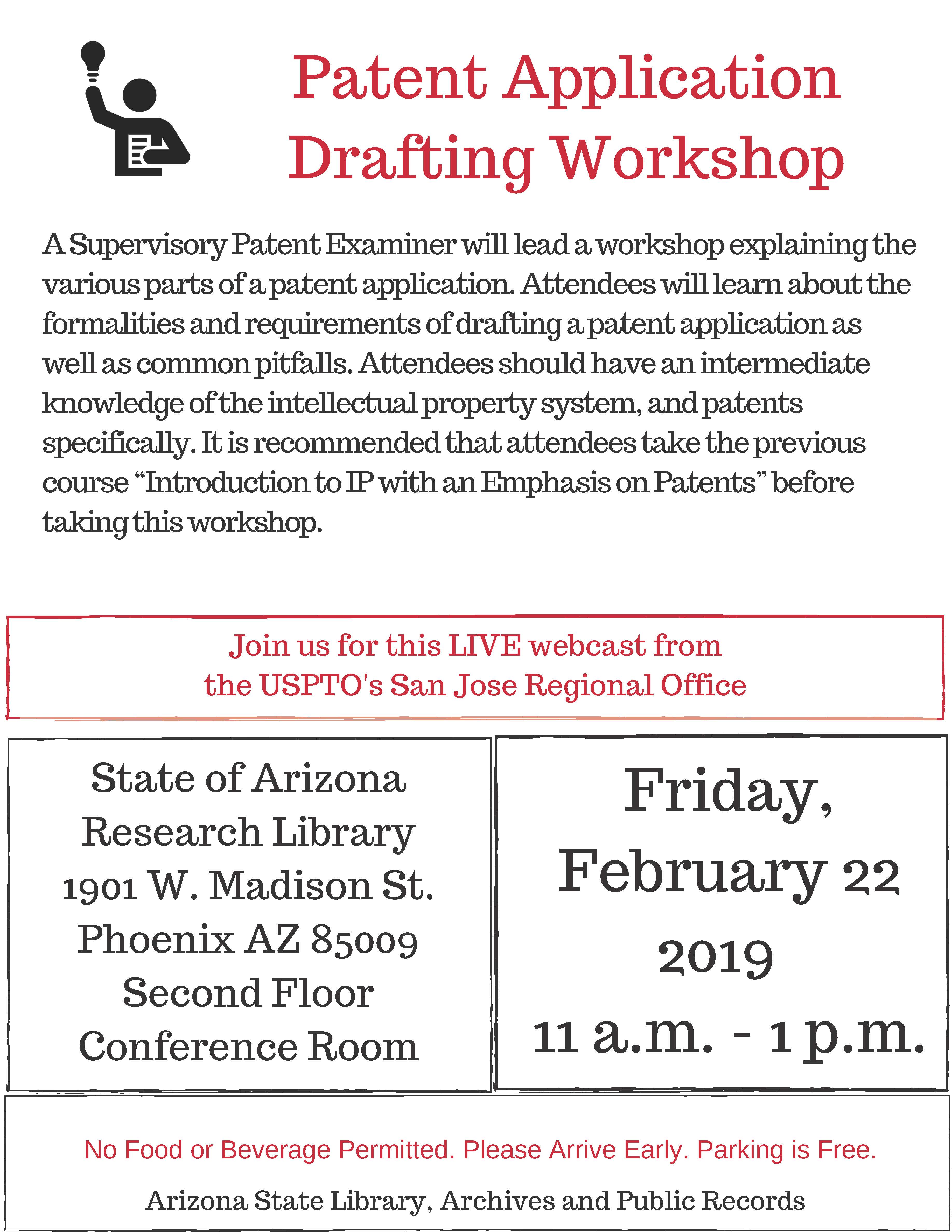 Patent Application Drafting Workshop