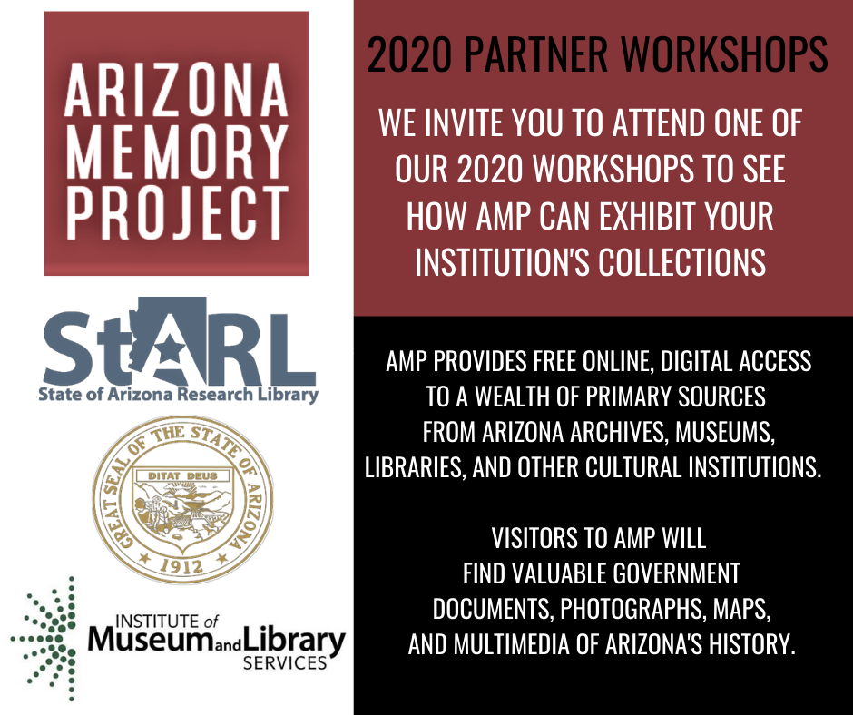 Arizona Memory Project Partner Workshop- ONLINE