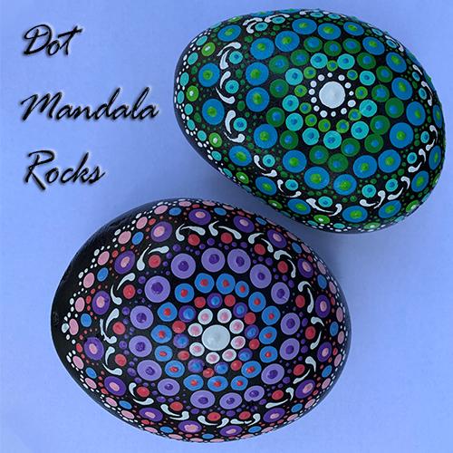 Dot Mandala Rock Painting