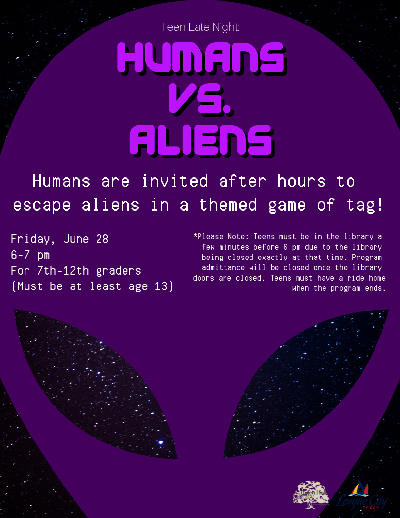 Teen Late Night: Humans vs. Aliens