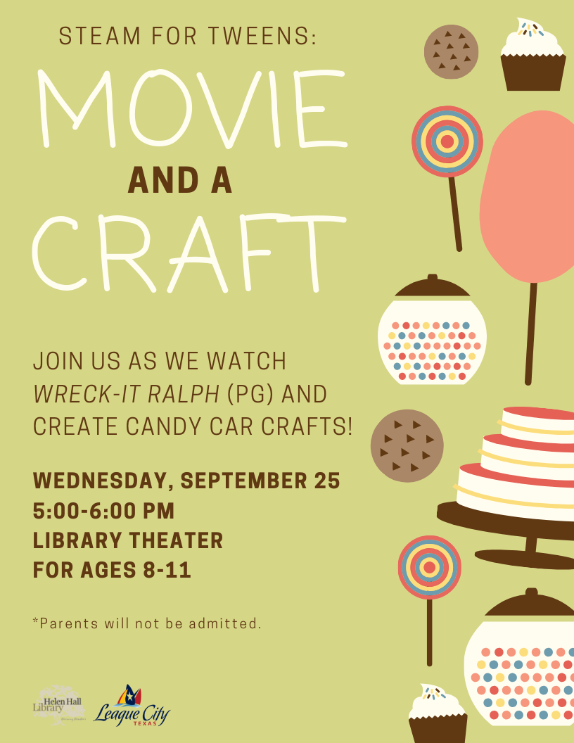 STEAM for Tweens: Movie and a Craft