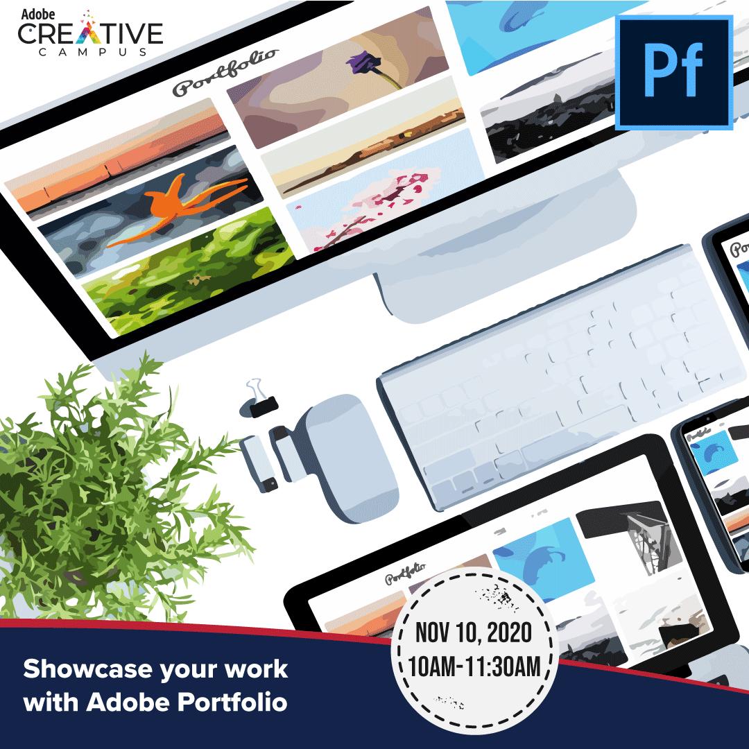 Showcase your work with Adobe Portfolio