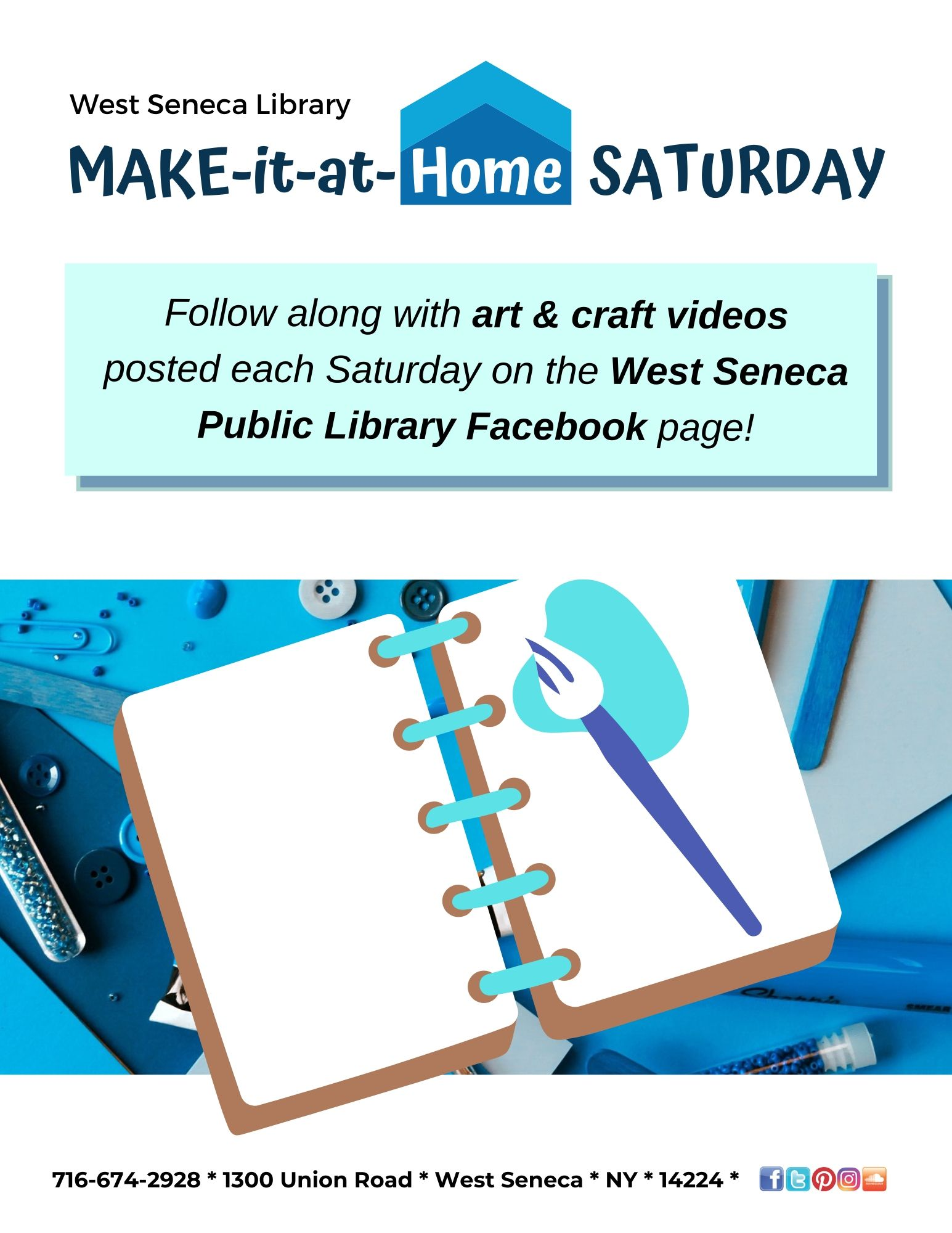 Virtual (online) Make-it-at-home Saturday craft program