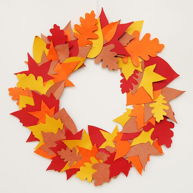 November Take and Makes: Leaf Wreath