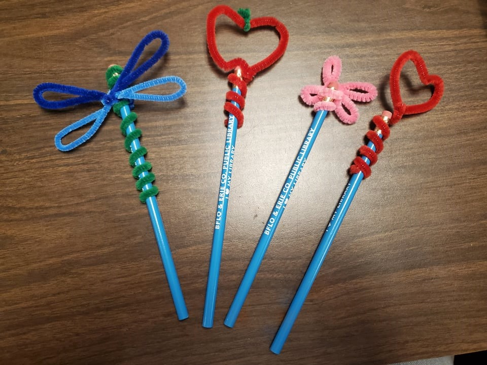 Pipe Cleaner Pencil Toppers!