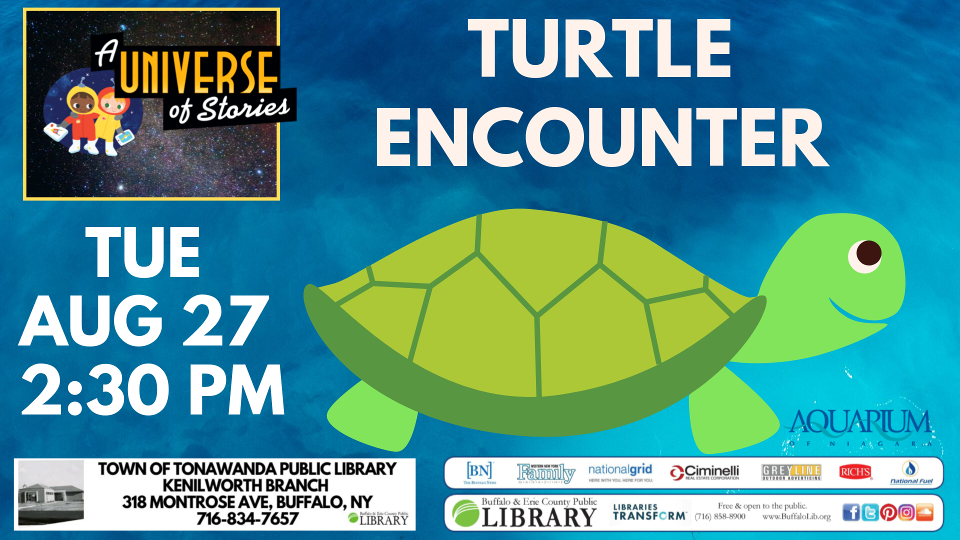 Aquarium of Niagara: Turtle Encounter
