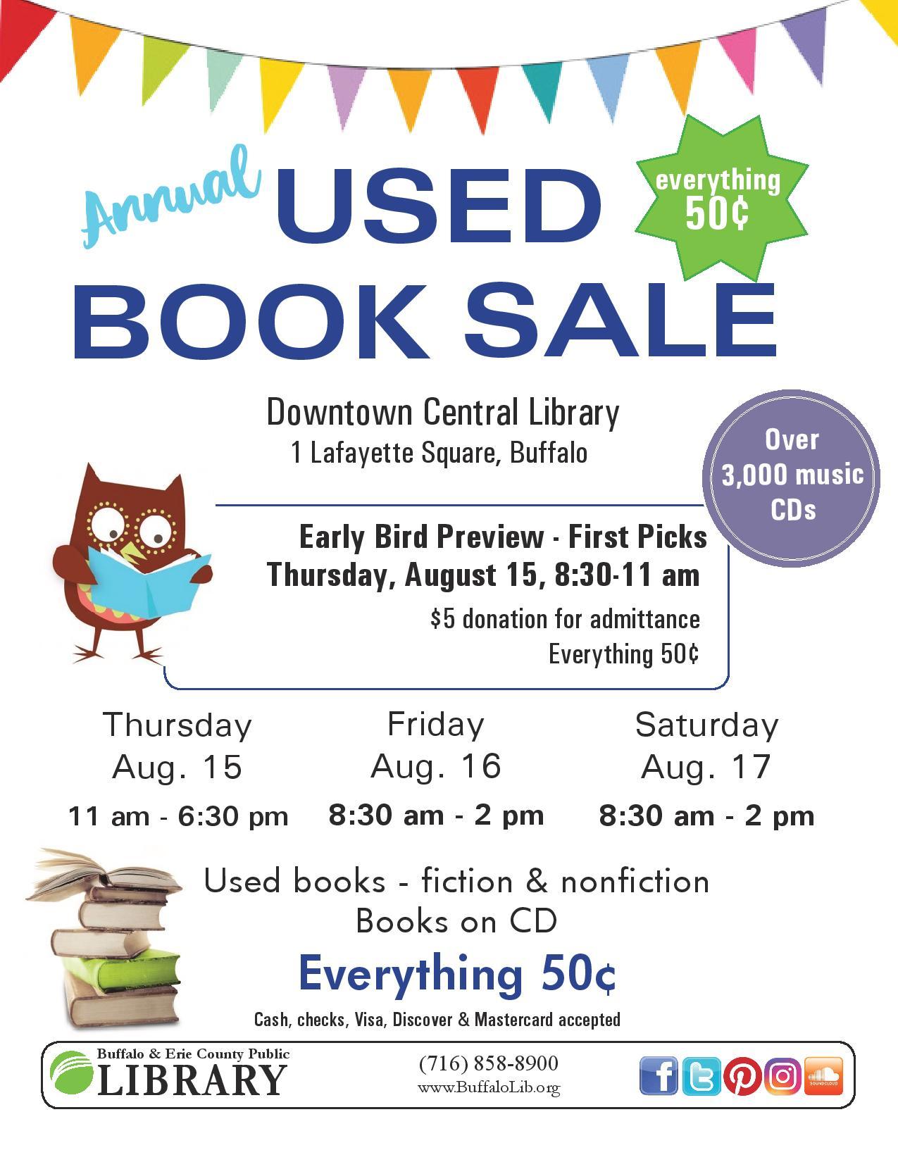 HUGE Annual Used Book Sale