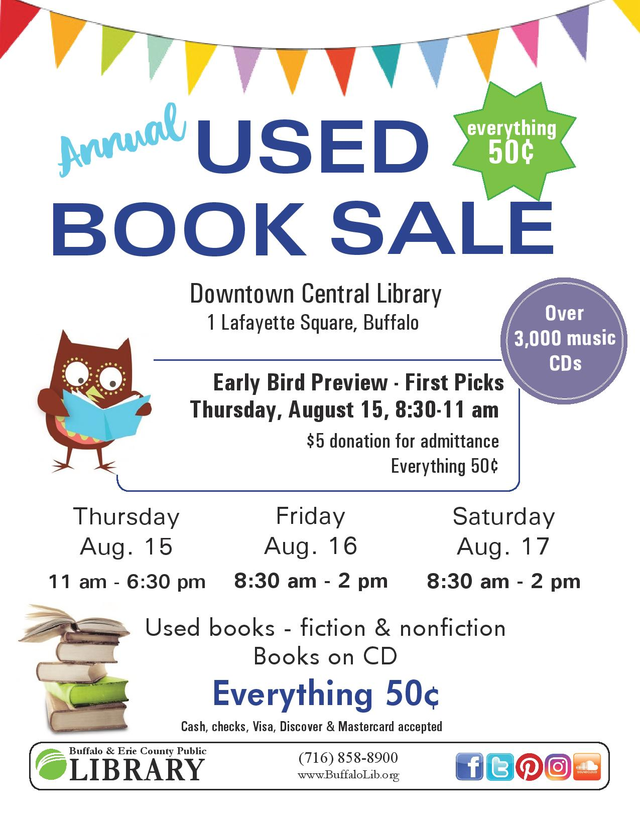 HUGE Annual Used Book Sale