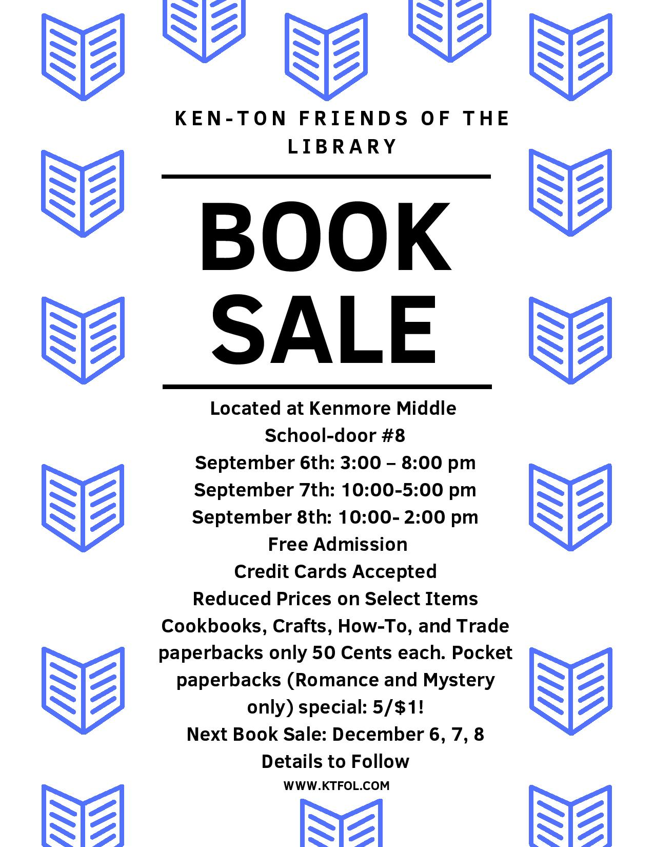 Ken-Ton Friends of the Library Book Sale (at the Kenmore Middle School)
