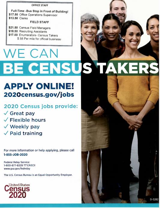 Census 2020 Job Recruiting Event @ The Concord Public Library