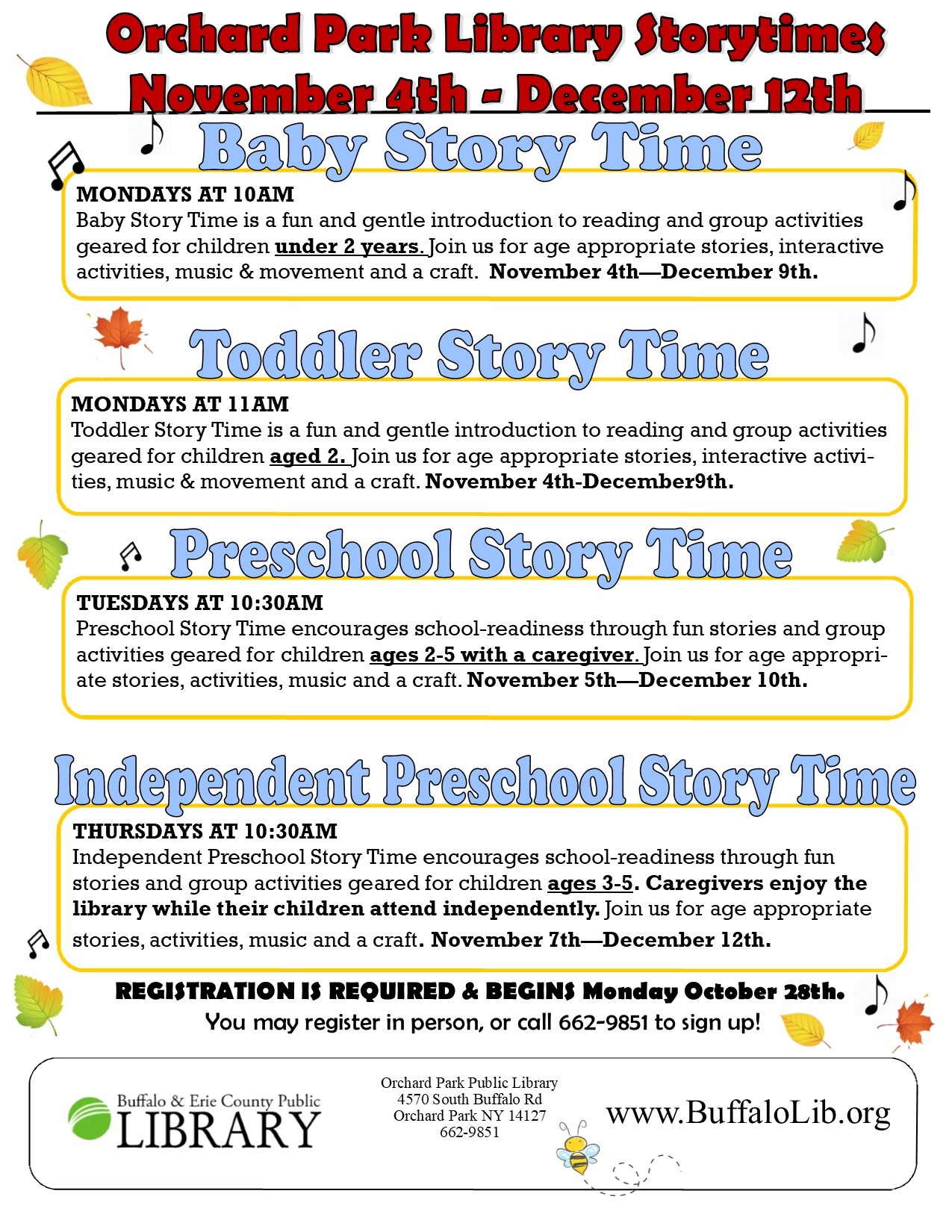 Independent Preschool Storytime