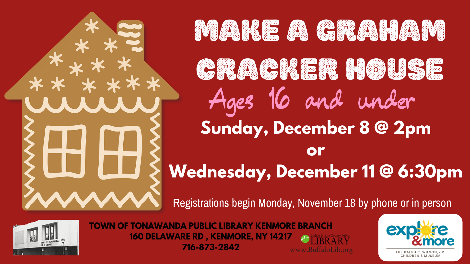 Graham Cracker Houses with Explore & More!