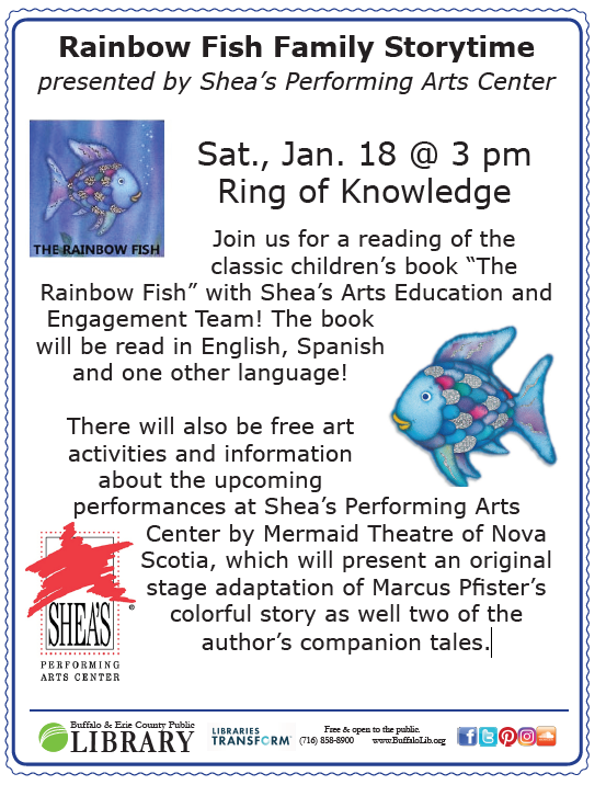Rainbow Fish Family Storytime presented by Shea's Performing Arts Center