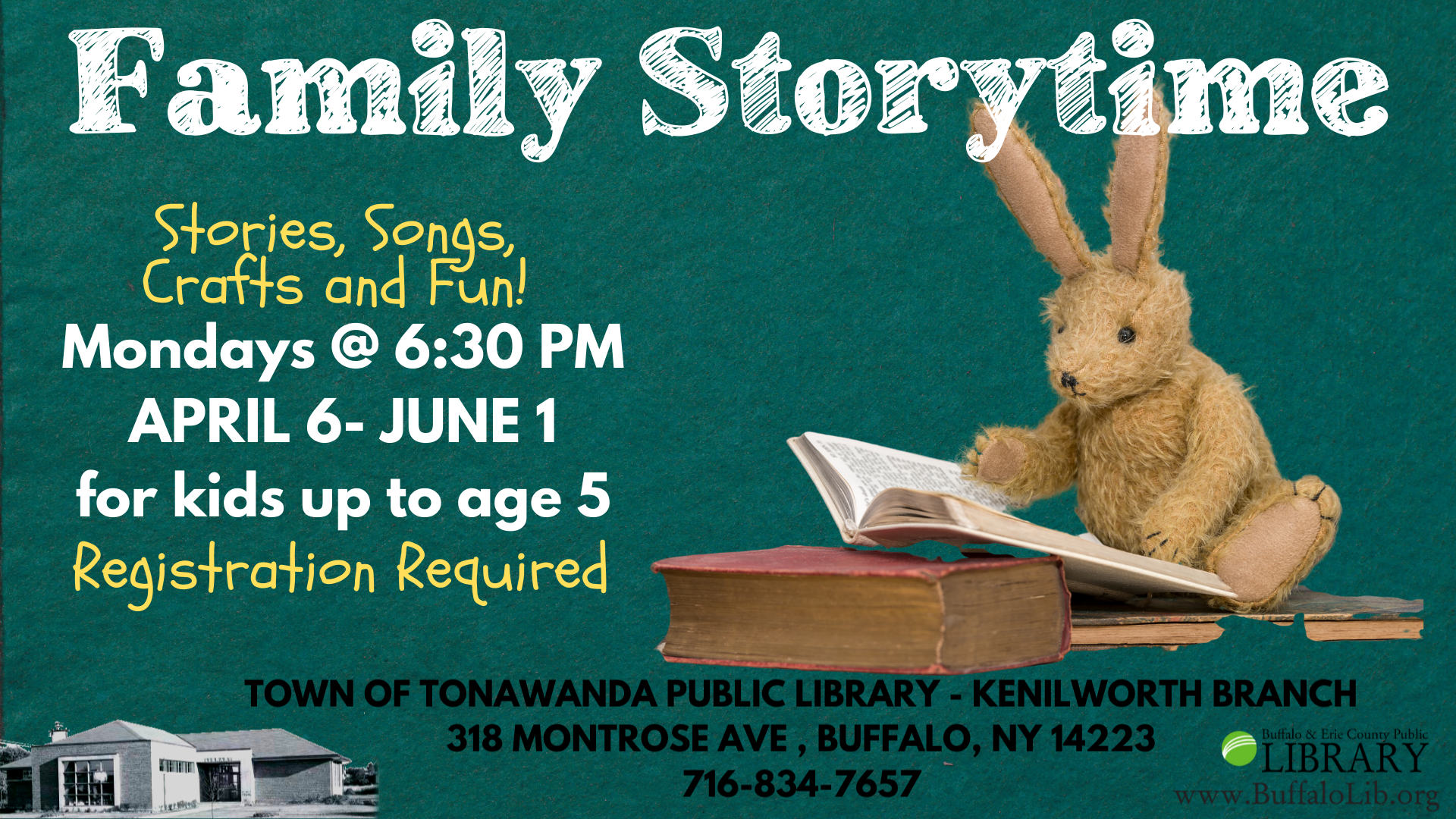 Family Story Time for kids up to age 5