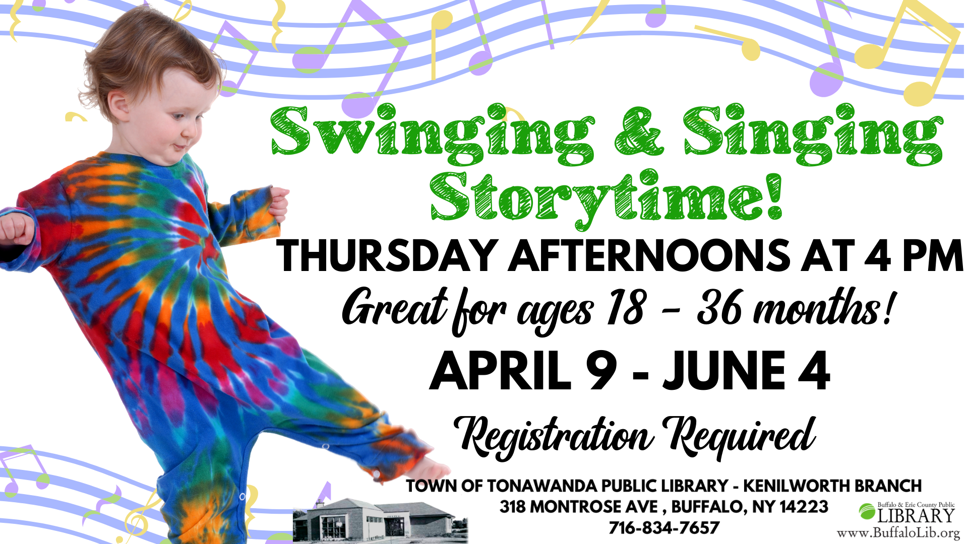 Swinging & Singing Story time for ages 18-36 months