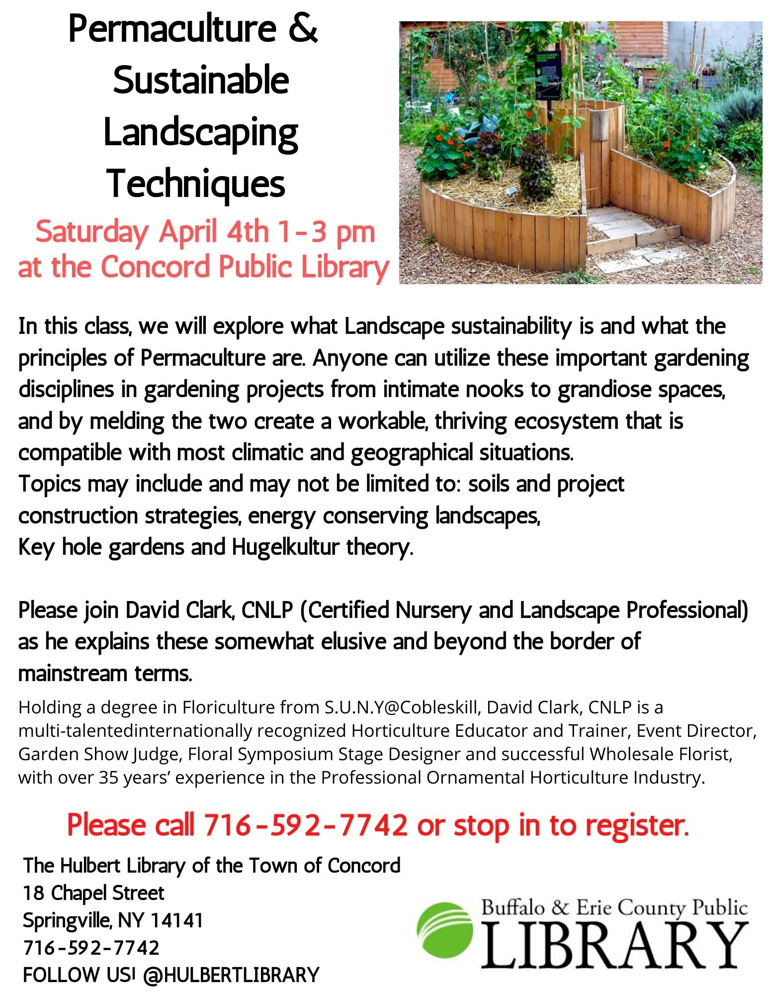 Postponed: Permaculture and Sustainable Landscaping Techniques