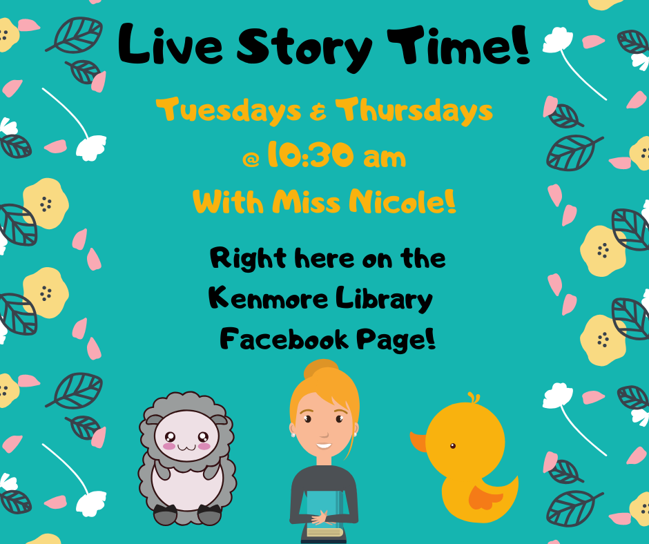 Story Time Live on Face Book!