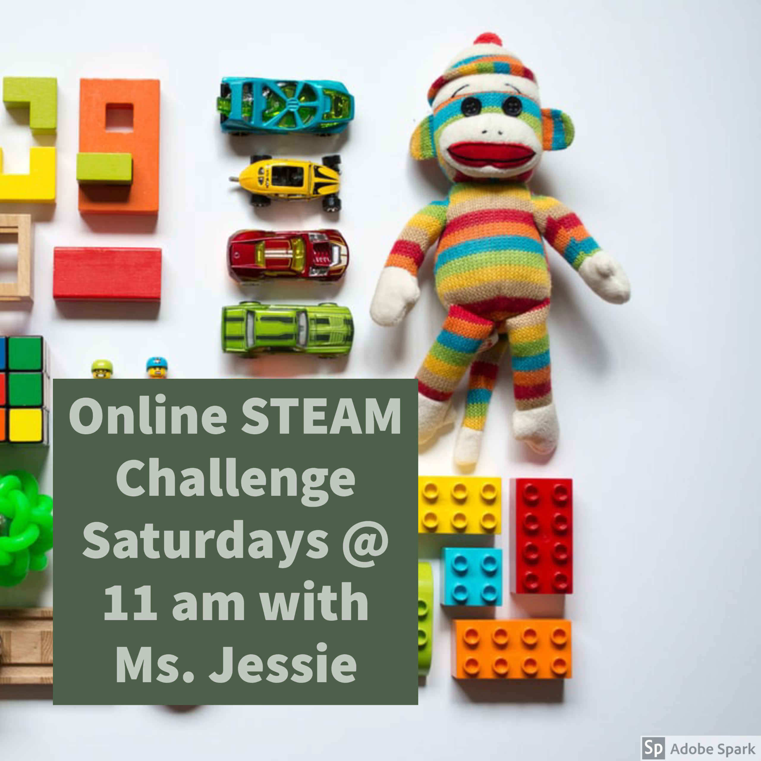 Virtual (online) STEAM Challenge with Ms. Jessie @ Central Library