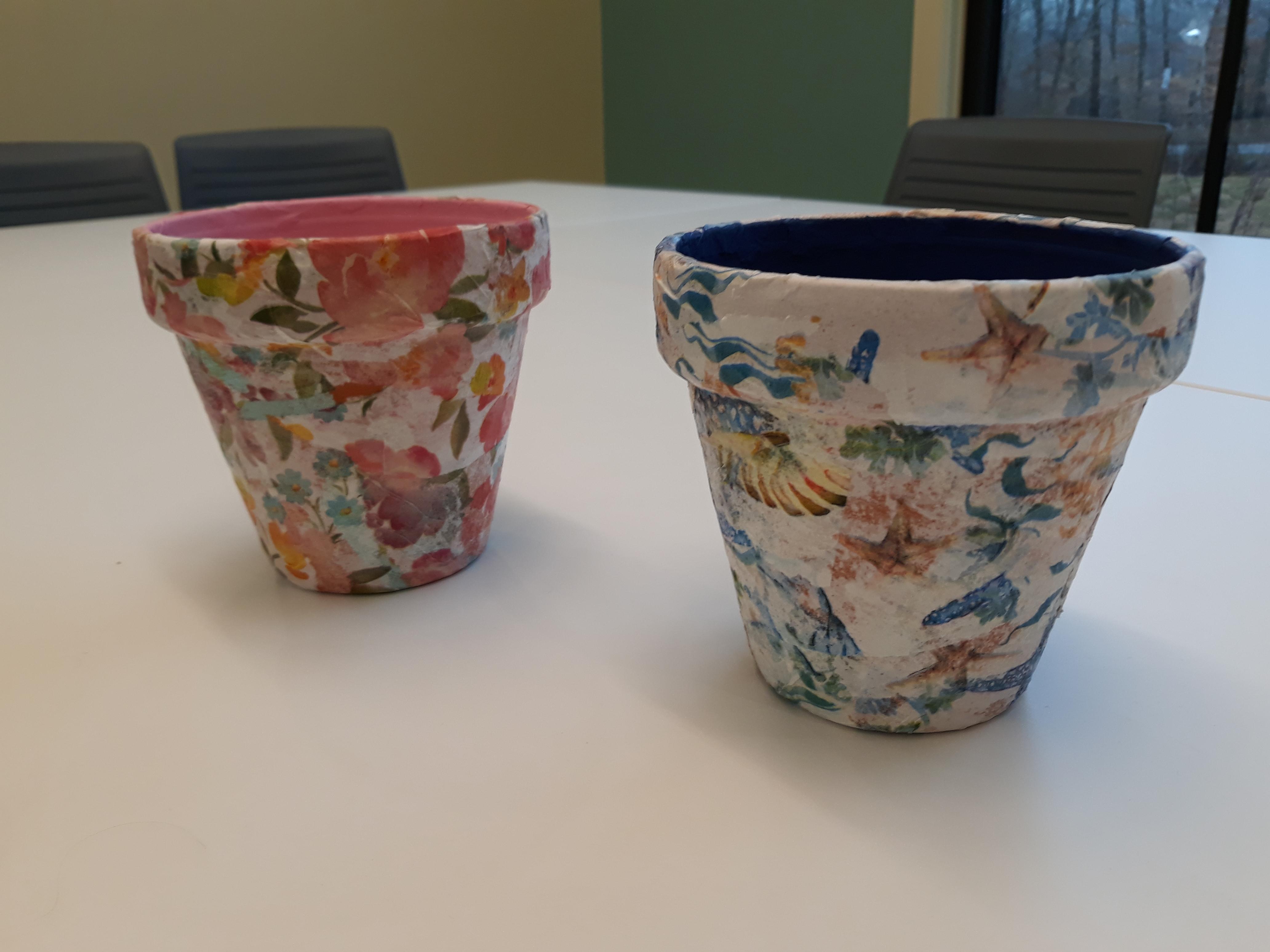 POSTPONED - CreaTiv Craft: Decorated Flower Pots