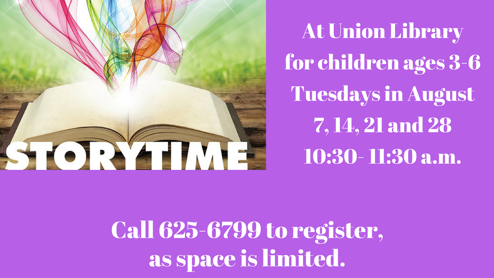 Storytime at Union Public Library