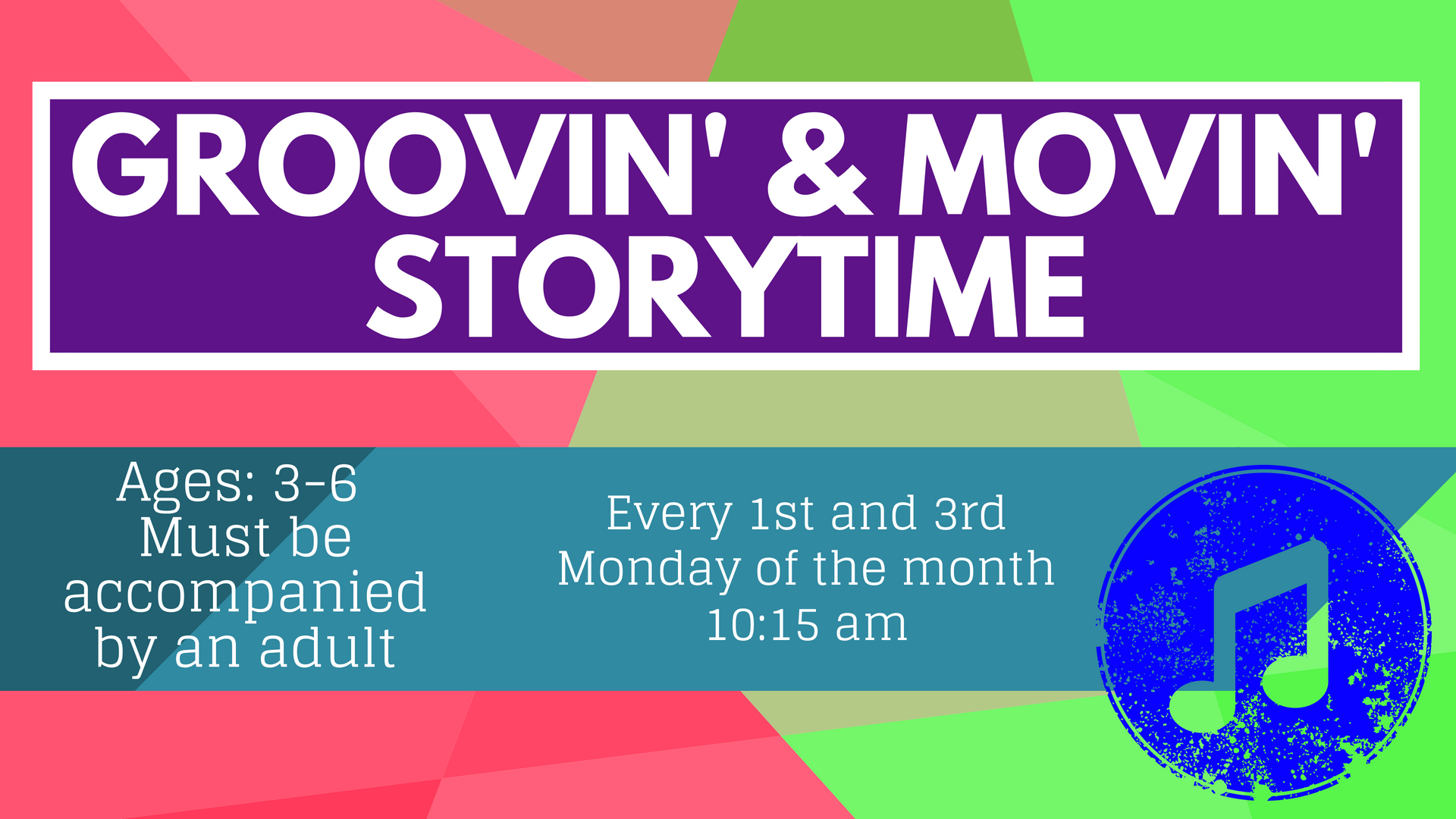 Groovin' and Moovin' Storytime