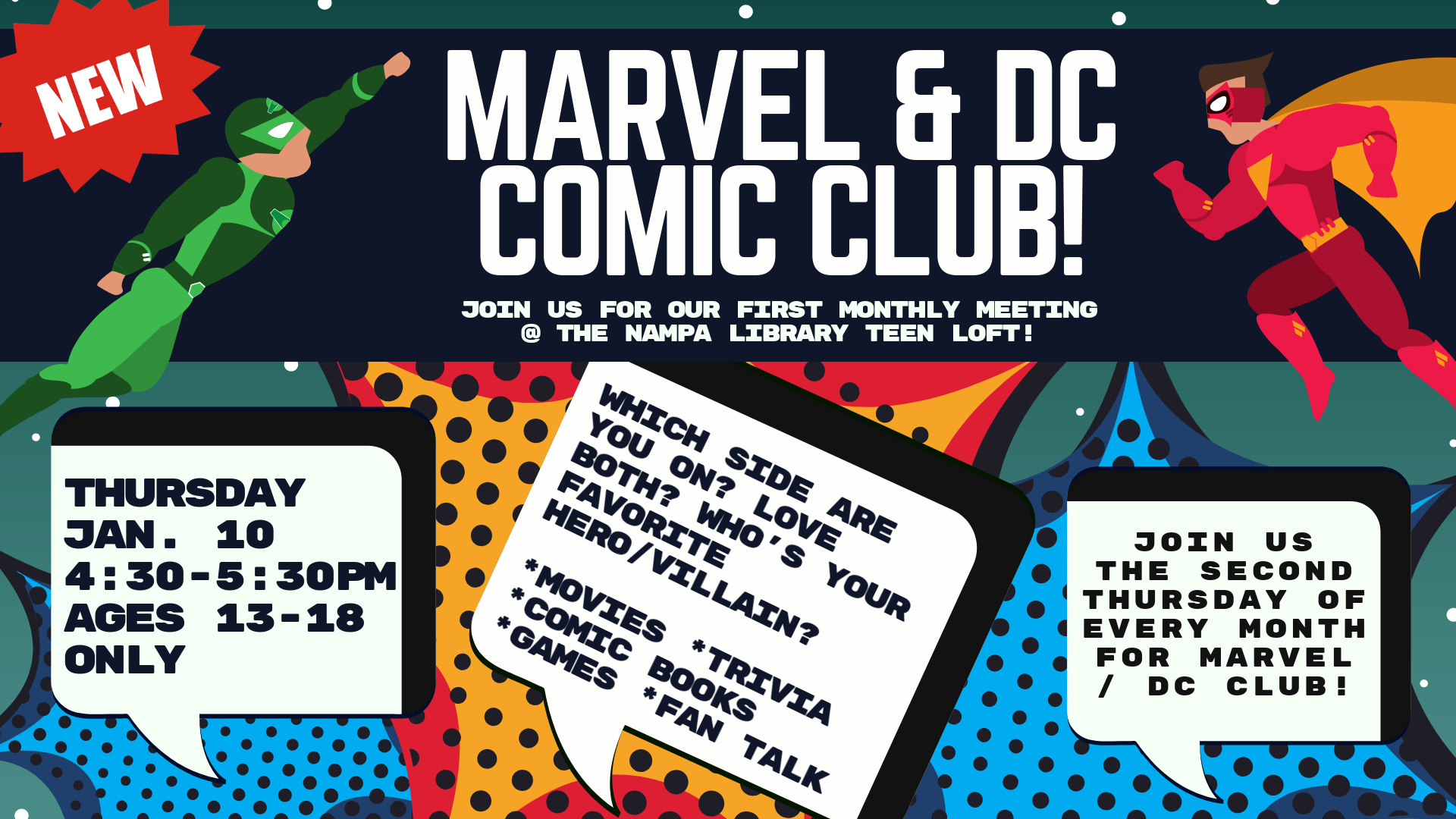 Marvel & DC Teen Comic Club!