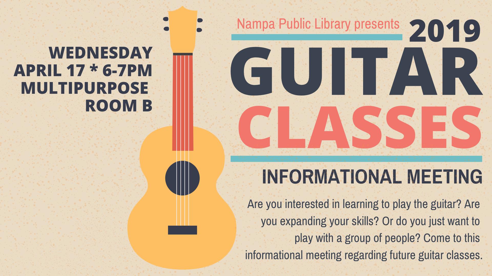 Guitar Classes: Informational Meeting