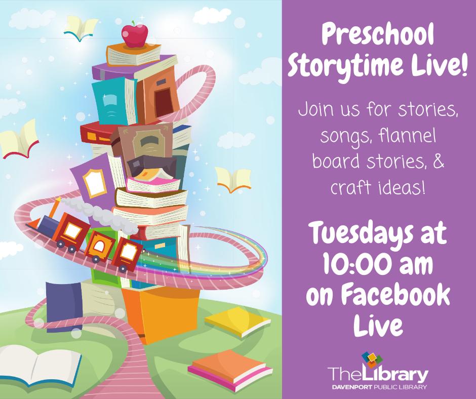 CANCELED - Preschool Storytime Live!