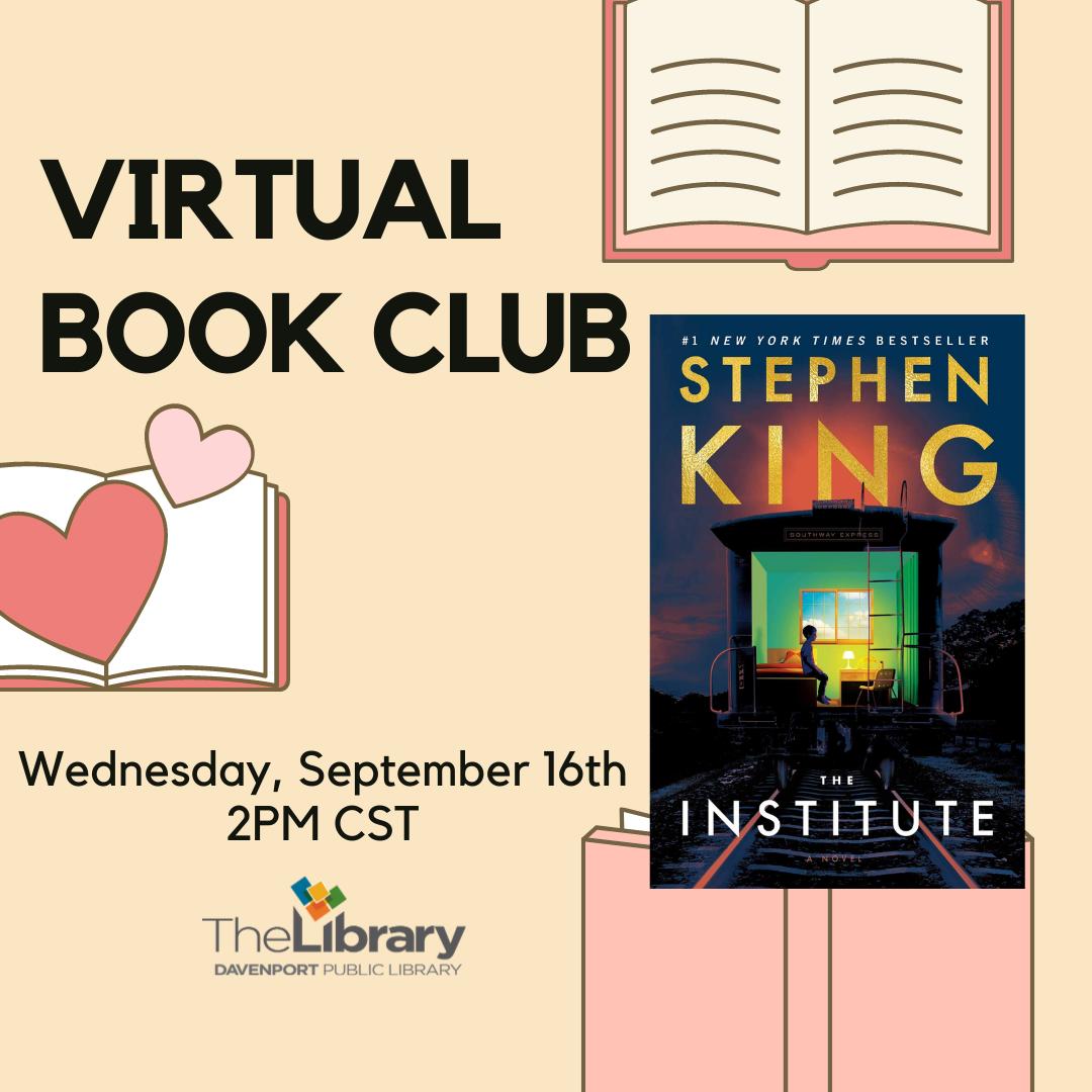 CANCELLED: Virtual Book Club