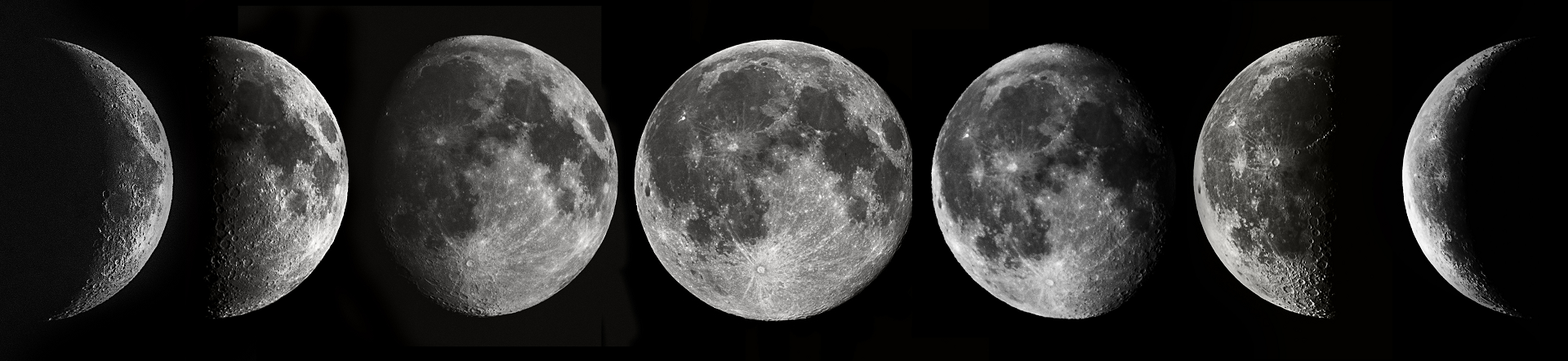 3D Moon Phases
