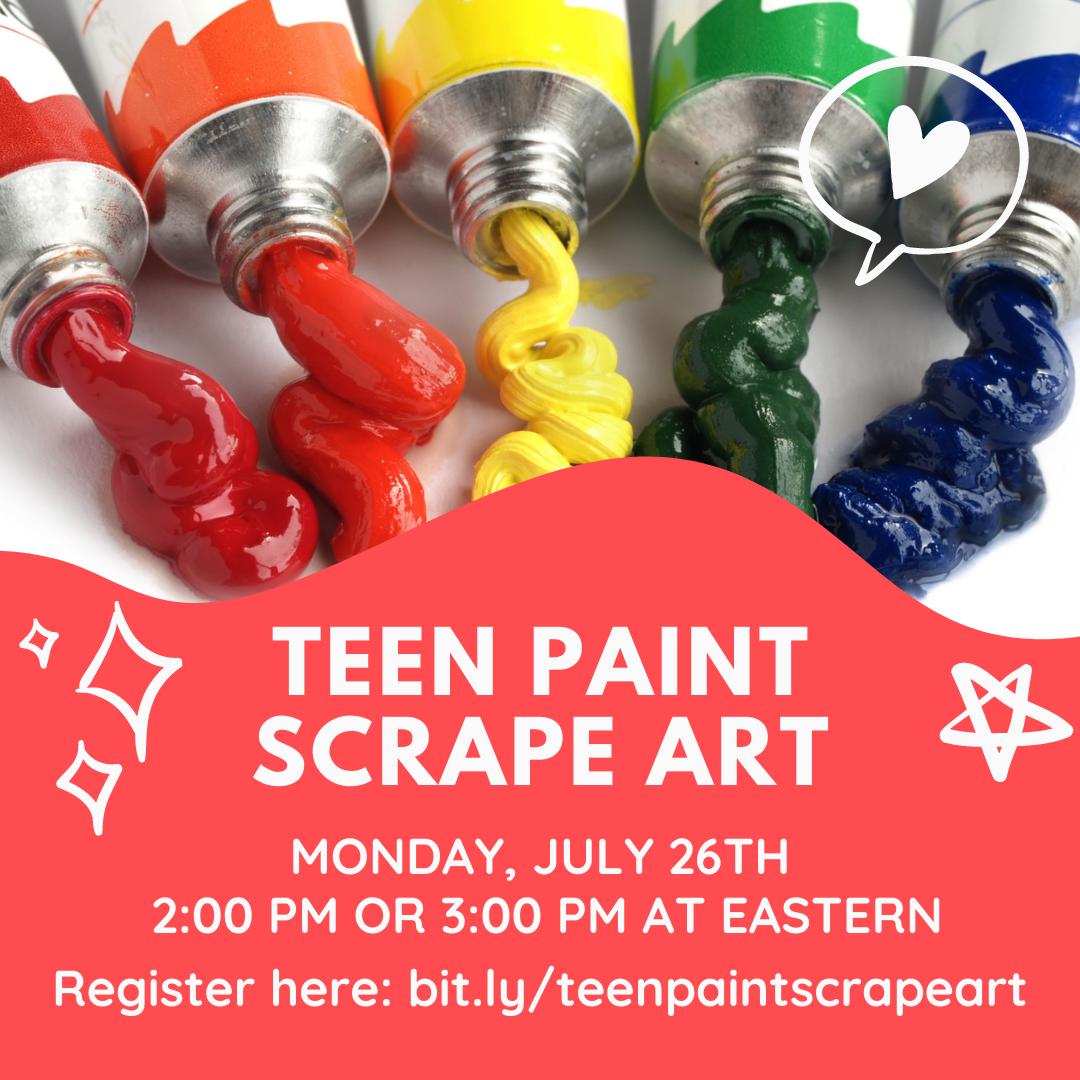 Teen Paint Scrape Art
