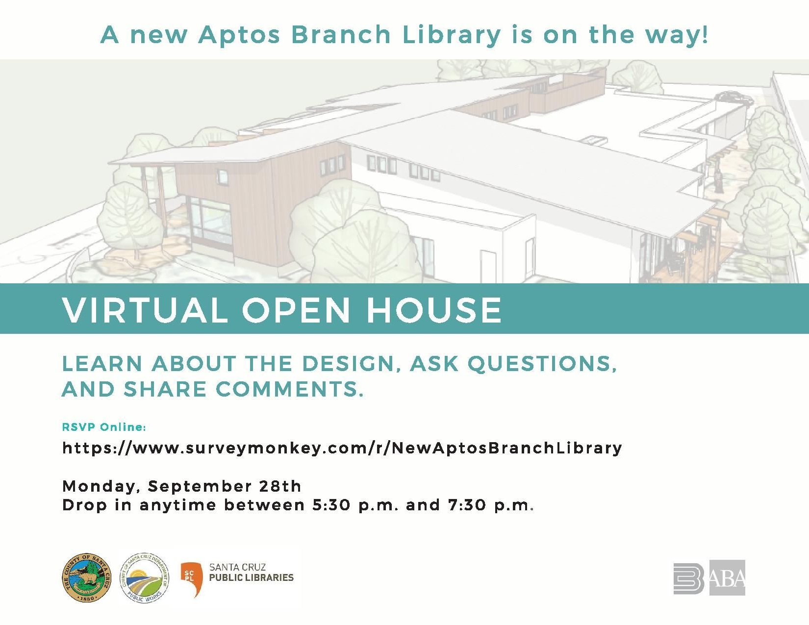 A new Aptos Branch Library is on the way! Aptos Branch Library - Virtual Open House/: