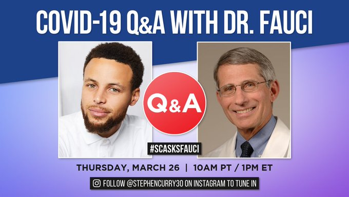 Steph Curry - Coronavirus Q&A with Dr. Anthony Fauci