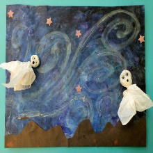 Take and Make with KidCreate Studio: Starry Night Ghosts