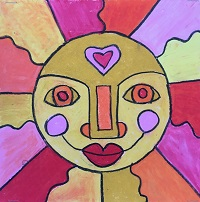 Aztec Sun Drawings for K-6